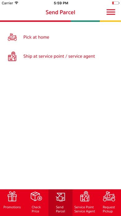 App รับส่งพัสดุ SCG Express