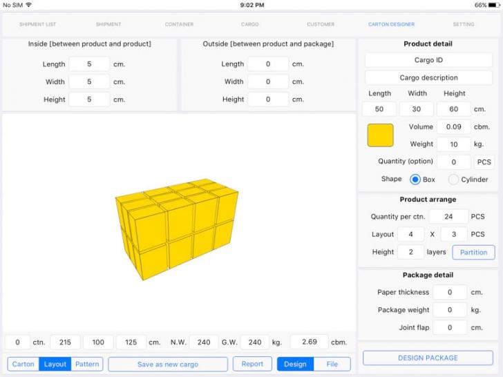 App ลดต้นทุนจัดส่งสินค้าCargo Optimizer Pro for iPad