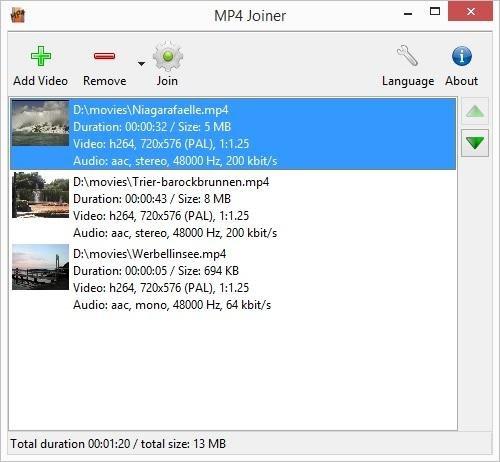 โปรแกรมตัดรวมไฟล์วีดีโอ MP4Tools