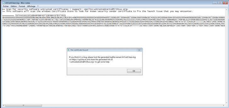 โปรแกรมช่วยติดตั้งซอฟต์แวร์ที่ถูกบล็อค AVCertClean