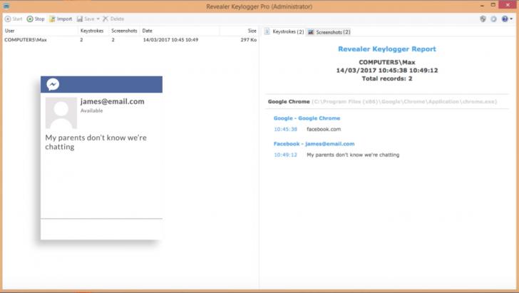 โปรแกรมบันทึกการใช้งานRevealer Keylogger