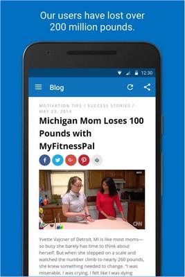 App ควบคุมน้ำหนัก Calorie Counter MyFitnessPal