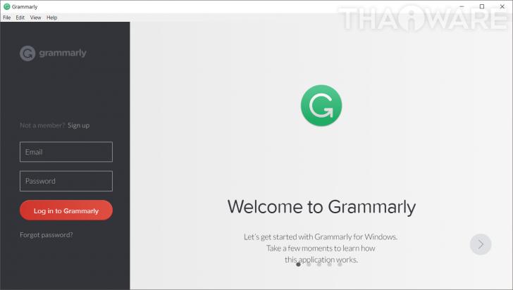 โปรแกรมช่วยตรวจสอบประโยคหรือคำในภาษาอังกฤษ Grammarly
