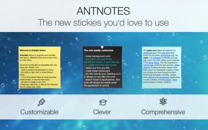 โปรแกรมจดโน้ตบนหน้าจอSimple Antnotes