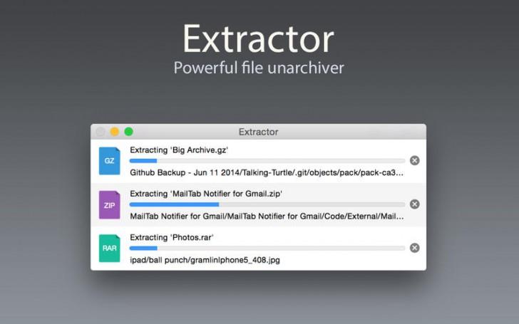 โปรแกรมแตกไฟล์ คลายไฟล์ Extractor