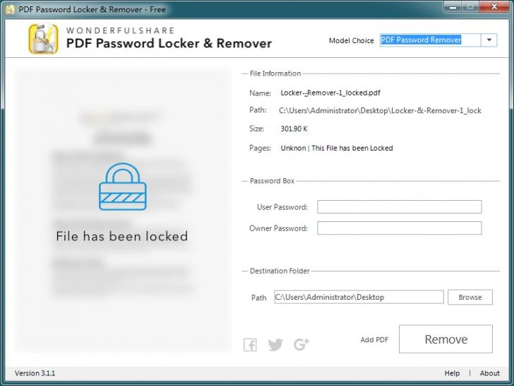 โปรแกรมล็อคไฟล์ ปลดล็อคไฟล์ PDF Password Locker & Remover