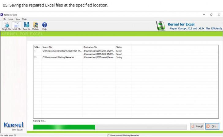 โปรแกรมกู้ไฟล์ Kernel Excel Recovery Software