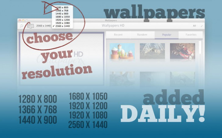 โปรแกรมภาพพื้นหลังWallpapers HD Lite