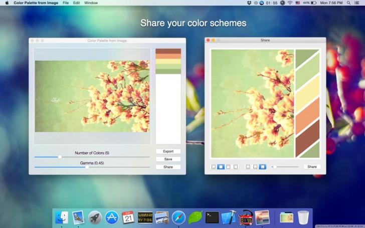 โปรแกรมดึงสีจากภาพColor Palette from Image