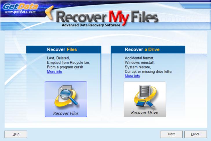 โปรแกรมกู้ไฟล์กู้ข้อมูลสำคัญ Recover My Files