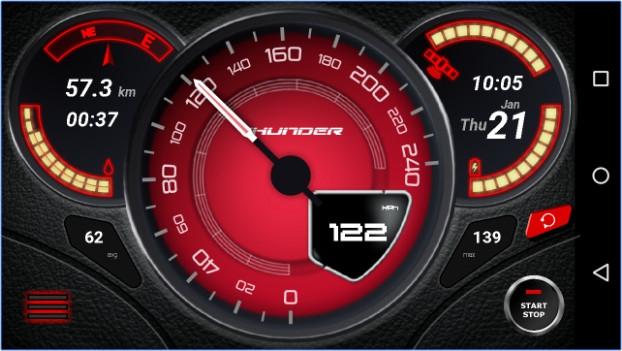 Gps Speedometer App ไมล์วัดความเร็วรถสุดเท่ห์ ดาวน์โหลด