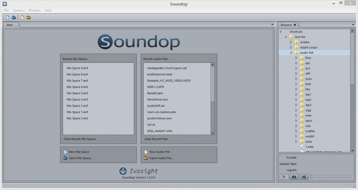 โปรแกรมตัดต่อเสียงเพลง Soundop