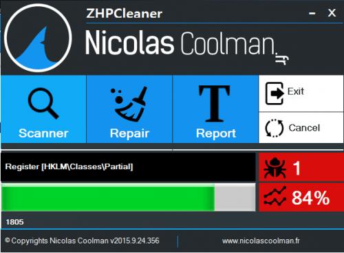 โปรแกรม ป้องกันแอดแวร์ ZHPCleaner