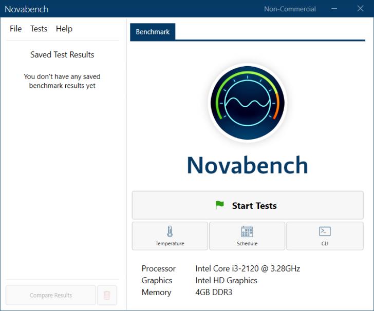 โปรแกรมทดสอบประสิทธิภาพของเครื่องพีซี Novabench