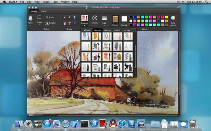 Paint X Lite (โปรแกรม Paint X Lite เพ้นท์สี วาดรูป แต่งภาพ บน Mac ฟรี) :