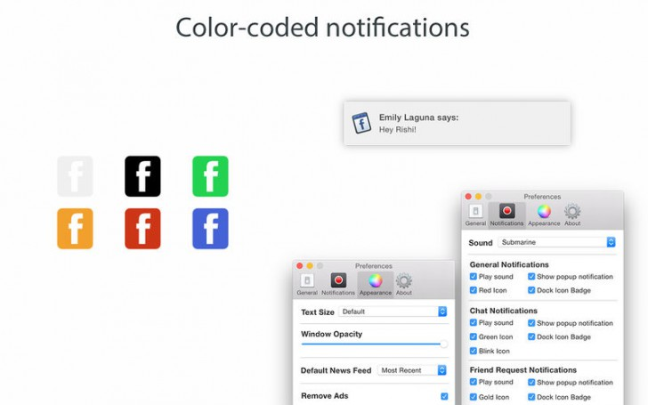 Go for facebook (โปรแกรม Go for facebook เข้า Facebook ไม่ผ่านเบราว์เซอร์ บน Mac) :