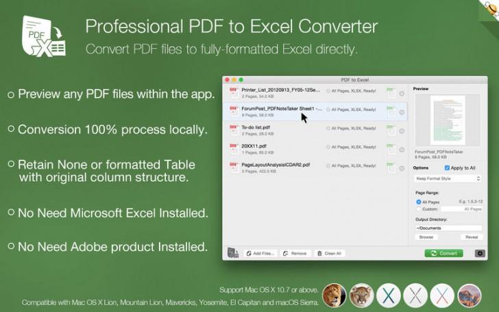 โปรแกรมแปลงไฟล์ PDF to Excel