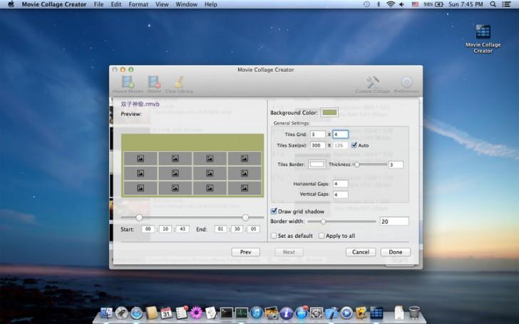 โปรแกรมทำรูปตัวอย่างวีดีโอMovie Thumbnails Maker Free