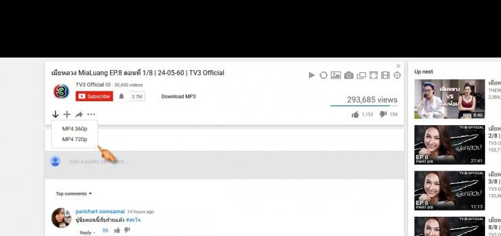 โปรแกรมดูวีดีโอ โหลดวีดีโอ YouTube Browser