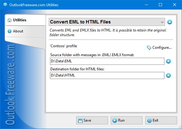 ReliefJet Essentials for Outlook โปรแกรมแปลงไฟล์ EML เป็น HTML
