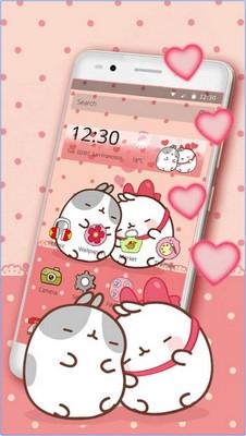 App ธีมน้องแมวน่ารัก Cute Kitty Love Theme
