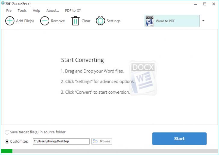 โปรแกรมแปลงไฟล์เอกสาร PDF Forte