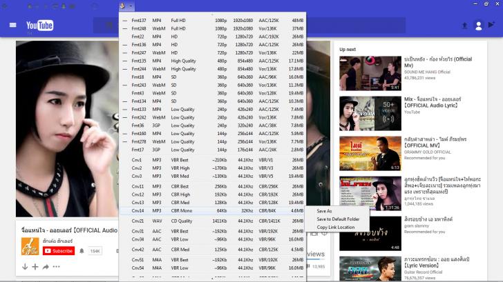 YouTube Browser (โปรแกรม Youtube Browser ดูคลิป ดาวน์โหลด วีดีโอจาก Youtube ฟรีๆ ไม่มีโฆษณา) :