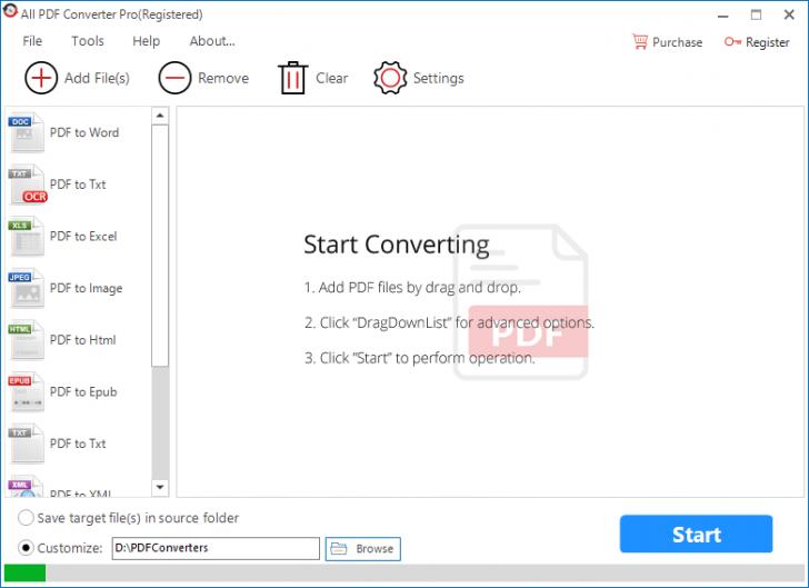 โปรแกรมแปลงไฟล์ All PDF Converter