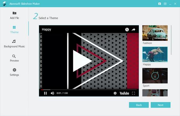 โปรแกรมสร้างสไลด์โชว์ Aiseesoft SlideShow Maker