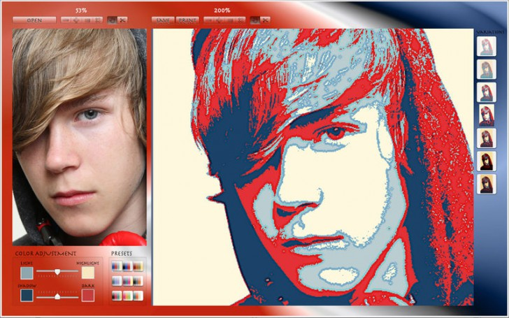 Photo to Poster EZ (โปรแกรมเปลี่ยนรูปภาพให้กลายเป็นภาพ Poster บน Mac) :