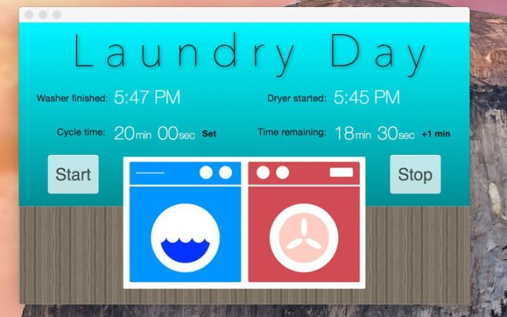 โปรแกรมตั้งเวลาซักอบผ้าLaundry Day