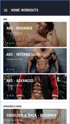 App ออกกำลังกาย Home Workout No Equipment