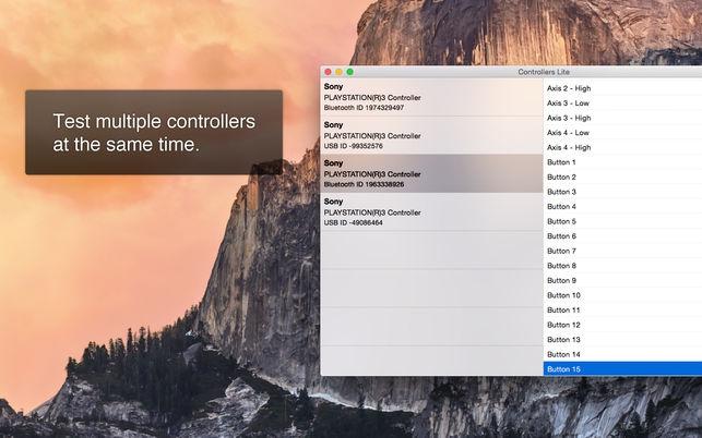 Controllers Lite (โปรแกรม Controllers Lite เช็คปุ่มจอย คอนโทรลเลอร์ บน Mac) :