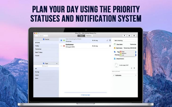 2Day 2Do (โปรแกรม 2Day 2Do กำหนดตารางที่ต้องทำในแต่ละวัน บน Mac) :
