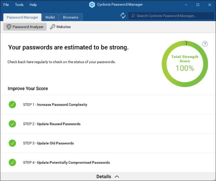 Cyclonis Password Manager (โปรแกรม จัดการรหัสผ่าน ช่วยจำรหัสผ่าน บน Windows และ macOS ฟรี) :