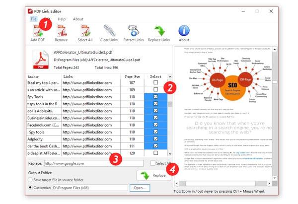 โปรแกรมจัดการลิงค์พีดีเอฟ PDF Link Editor