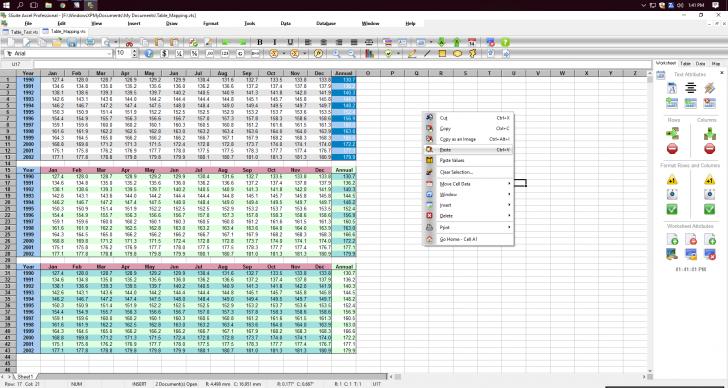 โปรแกรมสเปรดชีต สร้างตาราง SSuite Axcel Professional