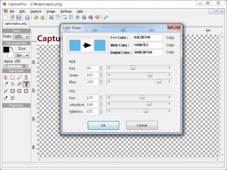 โปรแกรมจับภาพหน้าจอ CapturePlus