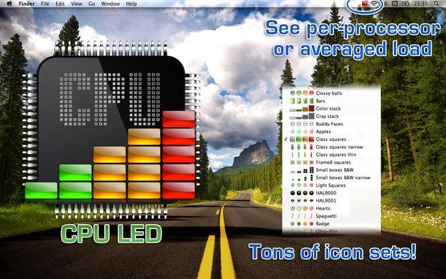 CPU LED (โปรแกรม CPU LED เช็คอัตราการใช้งาน CPU ผ่านเมนูบาร์ บน Mac) :
