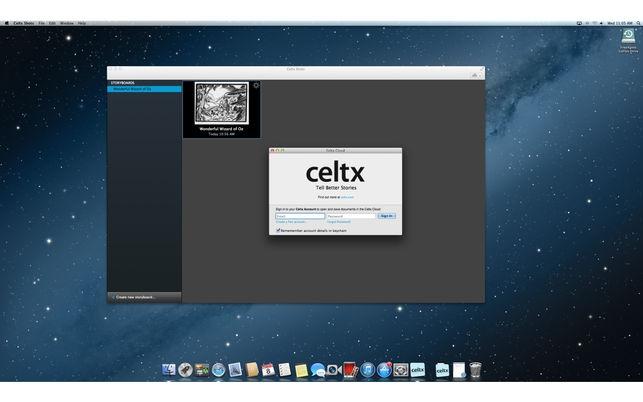 Celtx Shots (โปรแกรม Celtx Shots วางฉาก สร้าง Storyboard ก่อนถ่ายทำ บน Mac) :