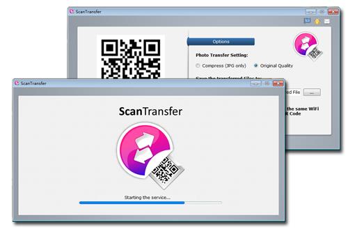 โปรแกรมสร้าง QR Code แชร์รูปภาพจากมือถือไป PC ScanTransfer