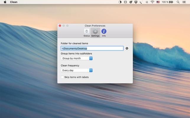 Clean (โปรแกรม Clean ทำความสะอาด จัดระเบียบหน้าจอ Desktop บน Mac) :