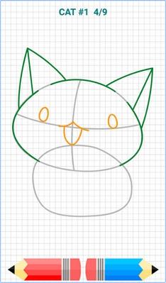 App วาดการ์ตูนHow to Draw Kawaii Drawings