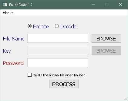 โปรแกรมเข้ารหัสไฟล์ En-deCode