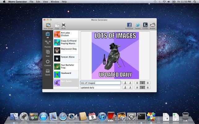 Meme Generator (โปรแกรม Meme Generator สร้างมีม คำบรรยายตามกระแส บน Mac) :