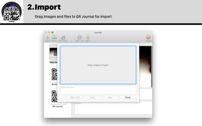 QR Journal (โปรแกรม QR Journal สแกนโค้ด QR Codes ผ่านกล้อง Mac) :