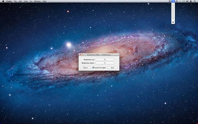 Brightness Slider (โปรแกรม Brightness Slider แถบปรับแสงสว่างหน้าจอ บน Mac) :