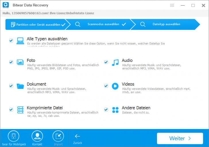 Bitwar Data Recovery (โปรแกรม Bitwar Data Recovery กู้ข้อมูล กู้ไฟล์ที่หายไป ใช้ฟรี) :