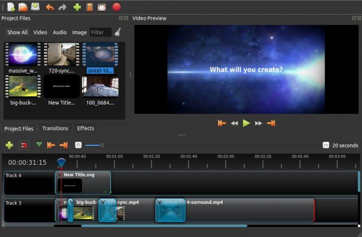 โปรแกรมตัดต่อวีดีโอ OpenShot Video Editor