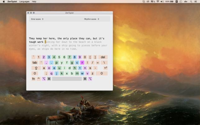 โปรแกรมฝึกพิมพ์เพิ่มความแม่นยำ ZenTypist